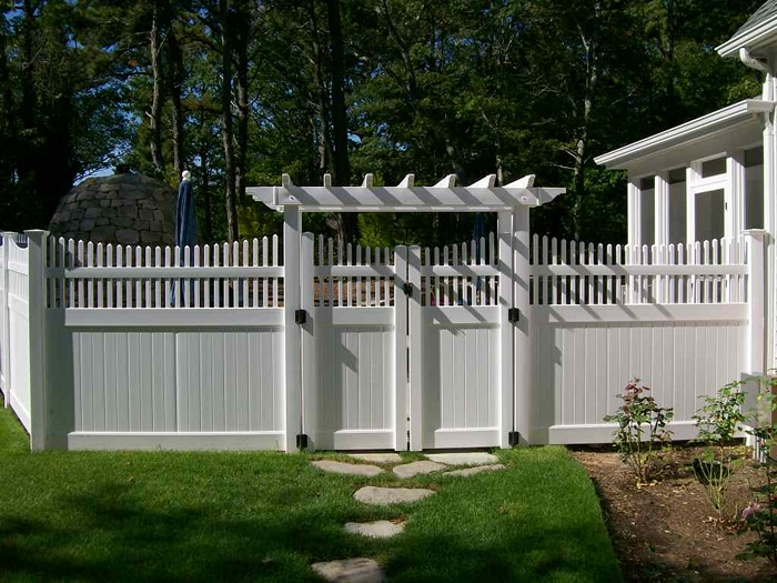 Vinyl Fence Arbor Fence With Gates Tampa