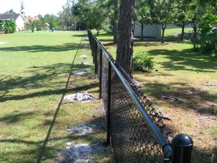 Color Coated Chain Link Fence Tampa